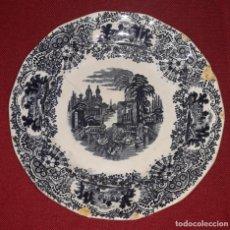 Antigüedades: PLATO DE PORCELANA LA CARTUJA PICKMAN. Lote 155135534