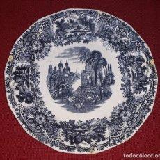 Antigüedades: PLATO DE PORCELANA LA CARTUJA PICKMAN. Lote 155135882