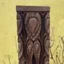 Antigüedades: EXCEPCIONAL COLUMNA TALLADA. Lote 155152418