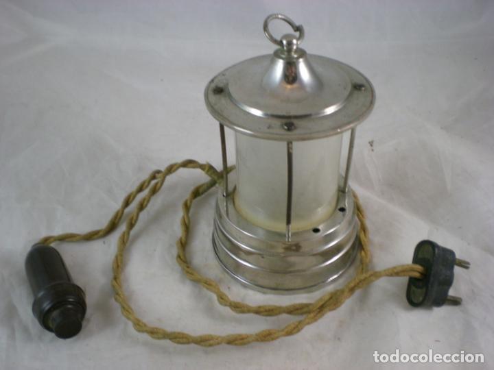LAMPARA PEQUEÑA - 125V - PATENTADO (Antigüedades - Iluminación - Lámparas Antiguas)