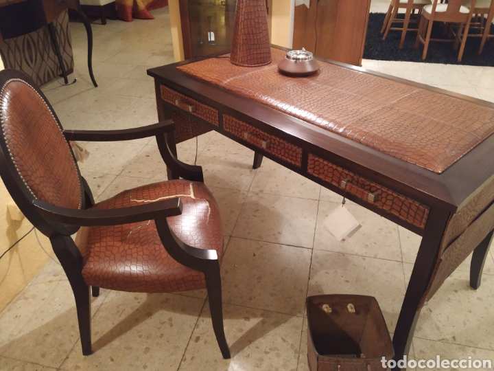 Antigüedades: Despacho cuero - Foto 4 - 155156374