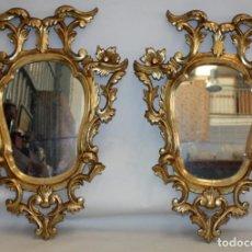 Antigüedades: SENSACIONAL PAREJA DE CORNUCOPIAS EN MADERA DORADA DEL SIGLO XIX. Lote 155174050