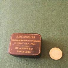 Antigüedades: CAJITA CAJA LATA DE RAPÉ. Lote 155200010