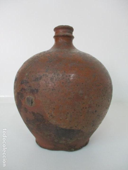 Antigüedades: Antigua Tinaja, Jarra - Cerámica Catalana - con Soporte, Estantería de Madera de Pino - S. XIX - Foto 21 - 155205902