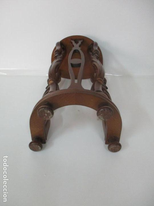 Antigüedades: Juego de Mesas Nido - 3 Mesitas, Estilo Imperio - 1/2 Luna - Patas en Forma de Cisne - Foto 7 - 155239410