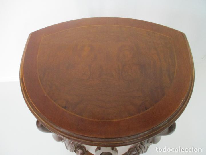 Antigüedades: Juego de Mesas Nido - 3 Mesitas, Estilo Imperio - 1/2 Luna - Patas en Forma de Cisne - Foto 13 - 155239410