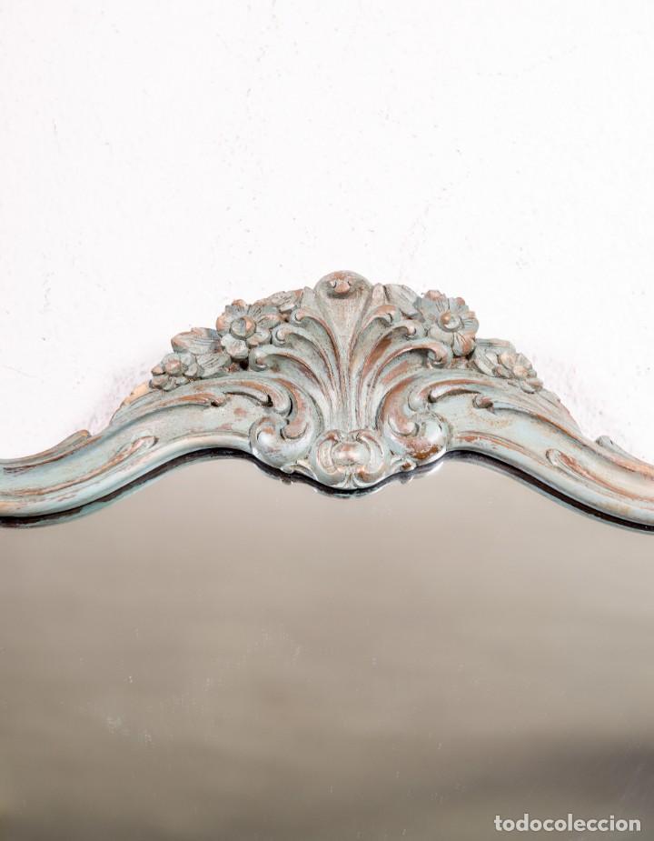 Antigüedades: Espejo Antiguo Restaurado Logan - Foto 2 - 155241218