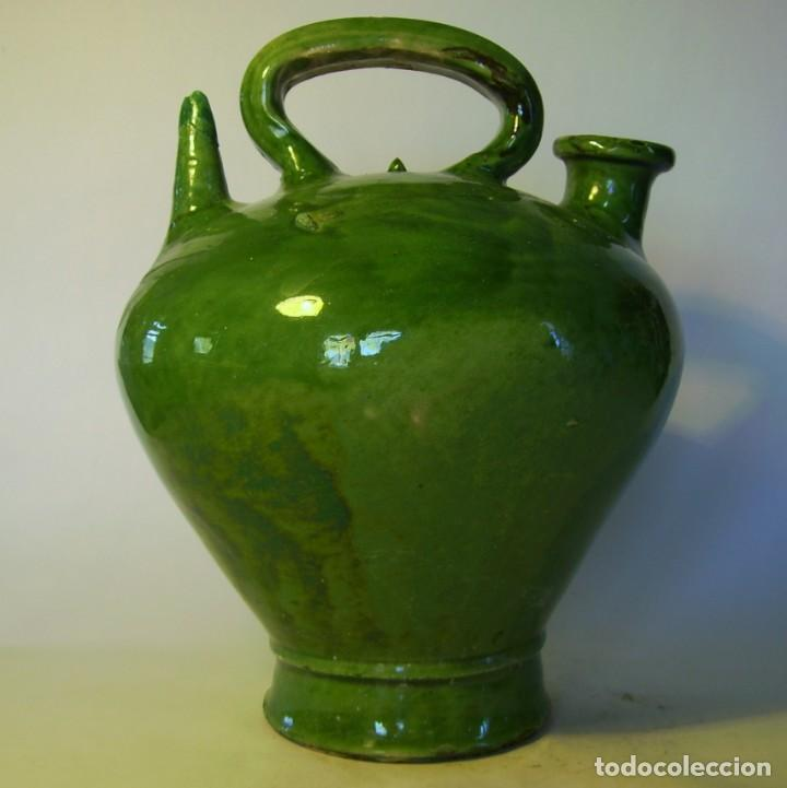 GRAN BOTIJO DE TERRISSA CATALANA XIX-XX (Antigüedades - Porcelanas y Cerámicas - Catalana)