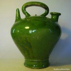 Antigüedades: GRAN BOTIJO DE TERRISSA CATALANA XIX-XX . Lote 155252698