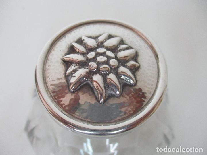 Antigüedades: Bonito Juego de 6 Piezas de Tocador - Plata de Ley, con Contrastes - Sello del Platero Serrahima - Foto 24 - 155260698