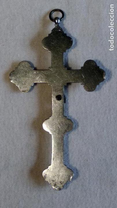 Antigüedades: Antigua y artística Cruz de micro mosaico (cristal pequeño tamaño), italiana siglo XIX. - Foto 12 - 155253398