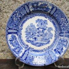 Antigüedades: GALICIA - PLATO AZUL SARGADELOS - SERIE GONDOLA - 21.5CM 340GR - EL DE FOTOGRAFIAS + INFO Y FOTOS. Lote 155278486