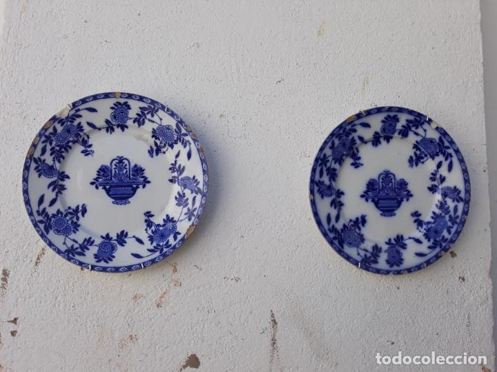 PAREJAS DE PLATOS ANTIGUOS (Antigüedades - Porcelanas y Cerámicas - San Juan de Aznalfarache)
