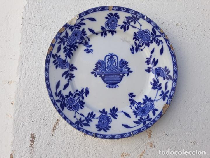 Antigüedades: parejas de platos antiguos - Foto 2 - 155289082