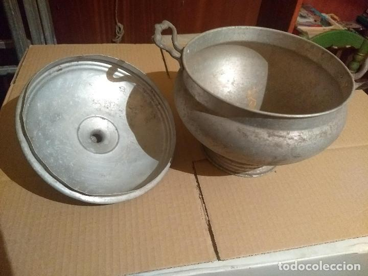 Antigüedades: Antigua sopera de aluminio - Foto 3 - 155298454