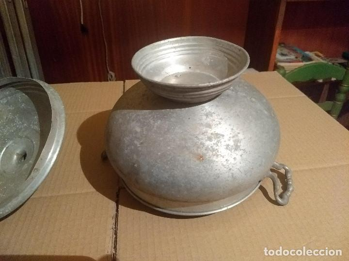Antigüedades: Antigua sopera de aluminio - Foto 4 - 155298454