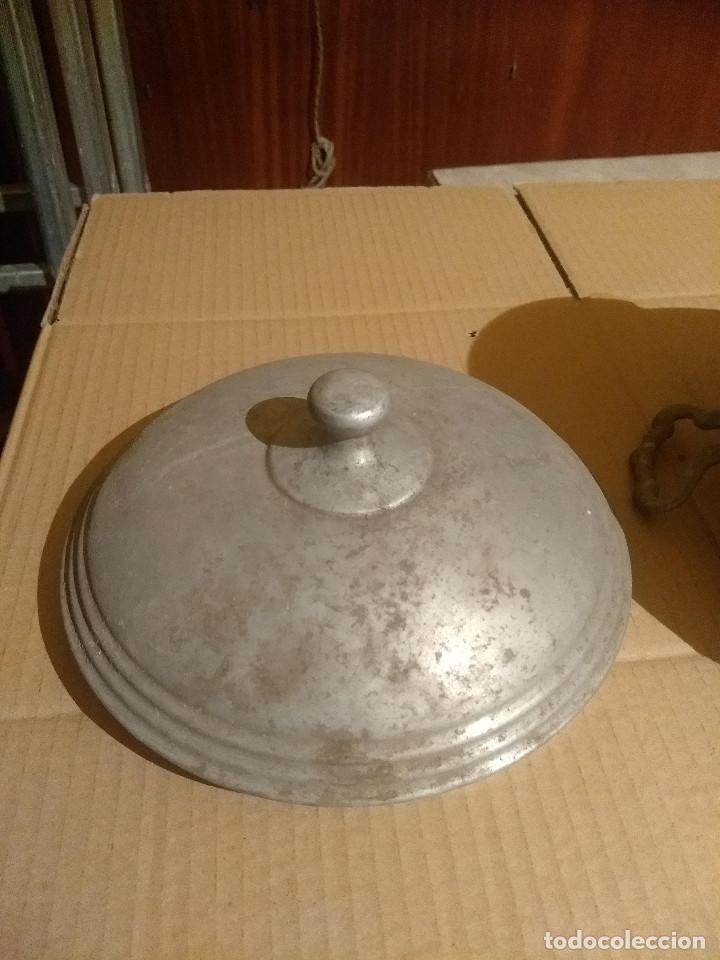 Antigüedades: Antigua sopera de aluminio - Foto 6 - 155298454