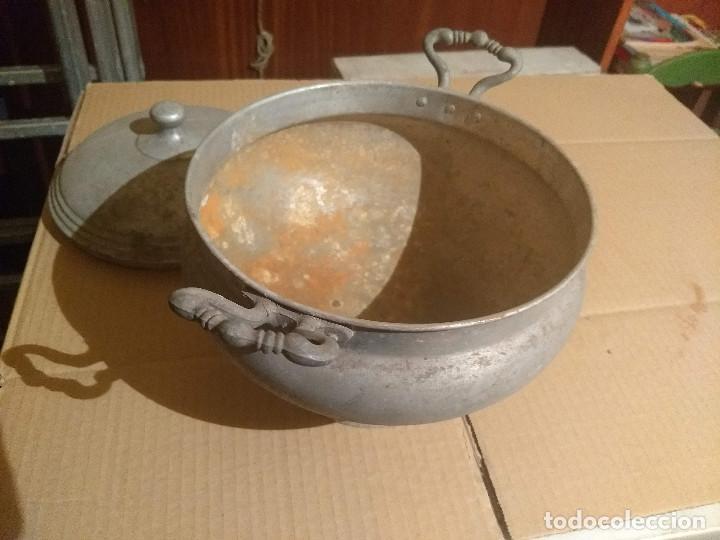Antigüedades: Antigua sopera de aluminio - Foto 7 - 155298454