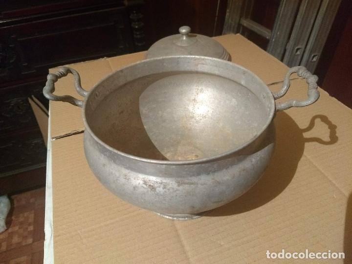 Antigüedades: Antigua sopera de aluminio - Foto 8 - 155298454