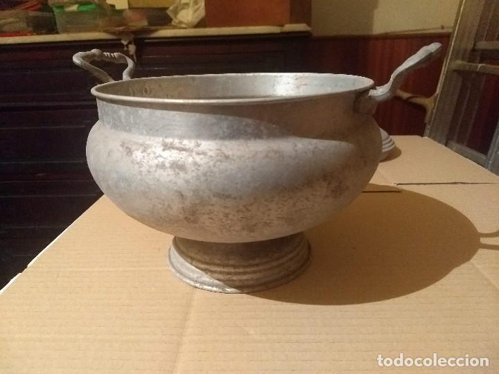 Antigüedades: Antigua sopera de aluminio - Foto 9 - 155298454