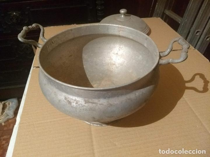 Antigüedades: Antigua sopera de aluminio - Foto 10 - 155298454