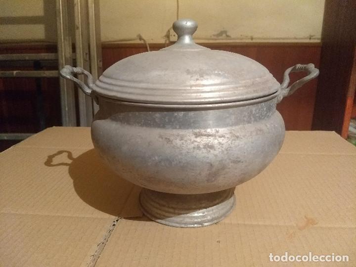 Antigüedades: Antigua sopera de aluminio - Foto 12 - 155298454