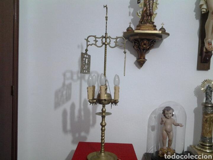 Antigüedades: Lampara antigua en bronce - Foto 3 - 155298809