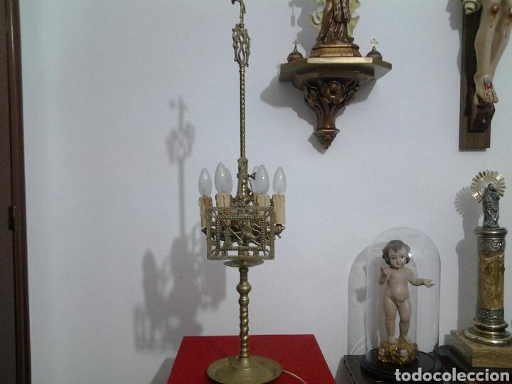 Antigüedades: Lampara antigua en bronce - Foto 7 - 155298809