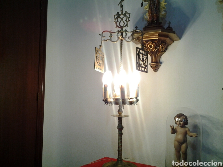 Antigüedades: Lampara antigua en bronce - Foto 11 - 155298809