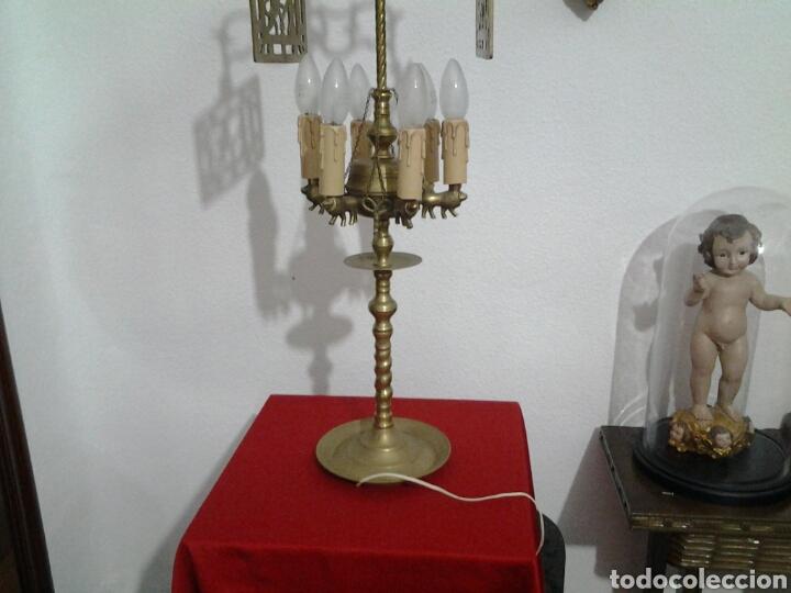 Antigüedades: Lampara antigua en bronce - Foto 16 - 155298809