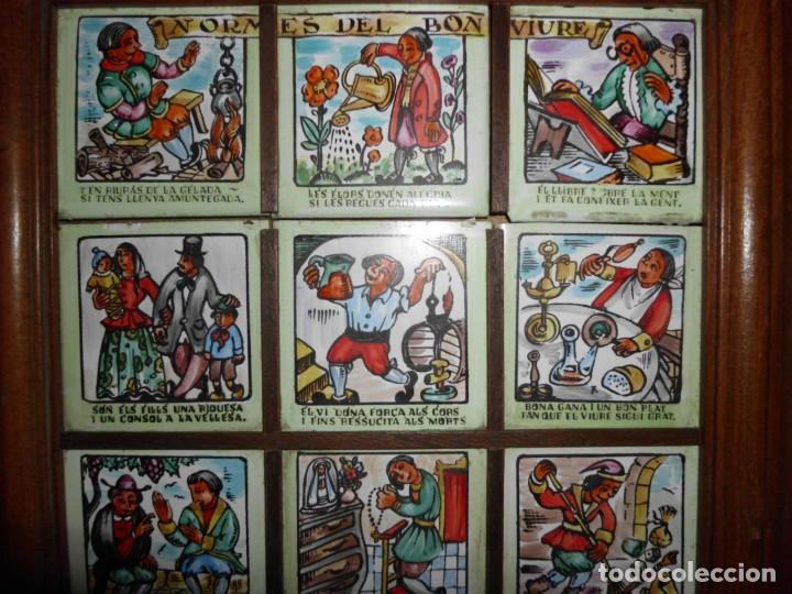 RAJOLA CON REFRANES EN CATALAN (Antigüedades - Porcelanas y Cerámicas - Otras)