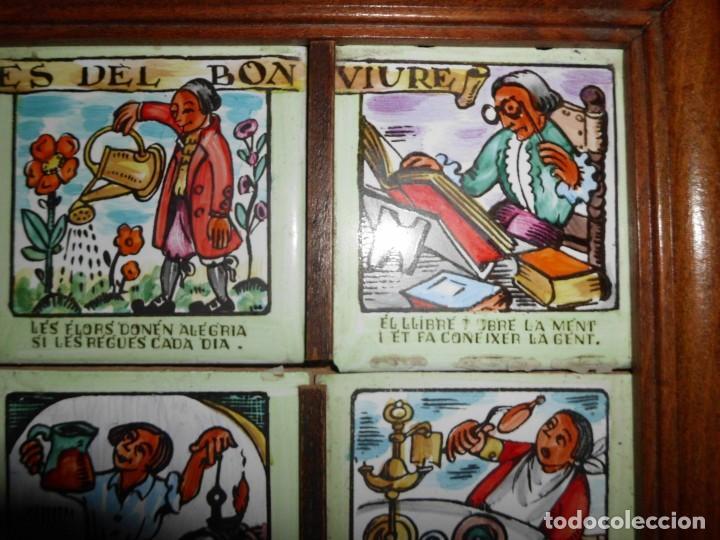 Antigüedades: RAJOLA CON REFRANES EN CATALAN - Foto 3 - 155299446