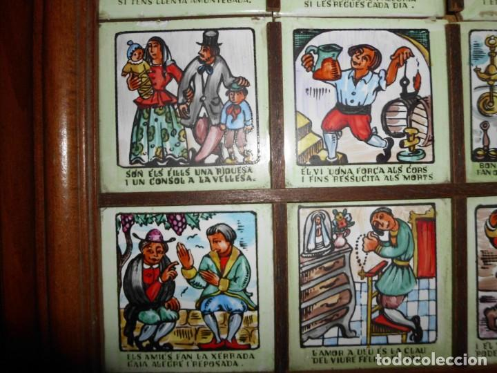 Antigüedades: RAJOLA CON REFRANES EN CATALAN - Foto 4 - 155299446
