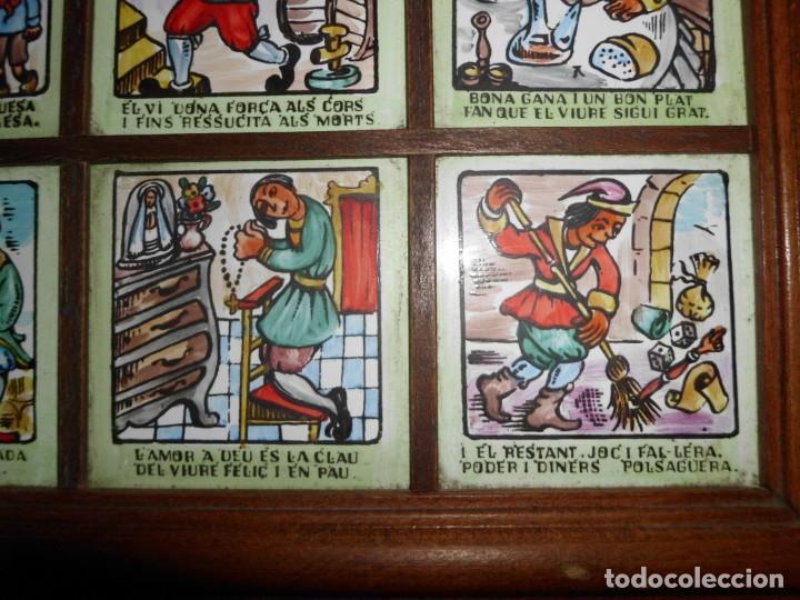 Antigüedades: RAJOLA CON REFRANES EN CATALAN - Foto 8 - 155299446