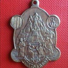 Antigüedades: MEDALLA RELIGIOSA ANTIGUA NUESTRA SEÑORA DE MONTSERRAT SAN BENITO FUNDADOR / 25 X 36 MM. Lote 155313176