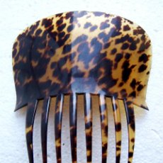 Antigüedades: PEINE DE PELO GRANDE EN CAREY GENUINA. Lote 155314294