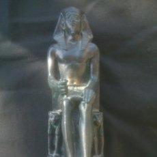 Antigüedades: FIGURA DIOS EGIPCIO ALTURA: 23CM. Lote 155332570
