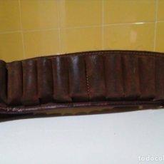 Antigüedades - CARTUCHERA DE CAZA EN PIEL / CUERO - 155343122