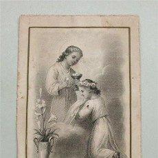 Antigüedades: ANTIGUA ESTAMPA RELIGIOSA. EL PAN DE VIDA. NÚM. 588. L. TURGIS EDIT. PARÍS (SIGLO XIX). Lote 155351354
