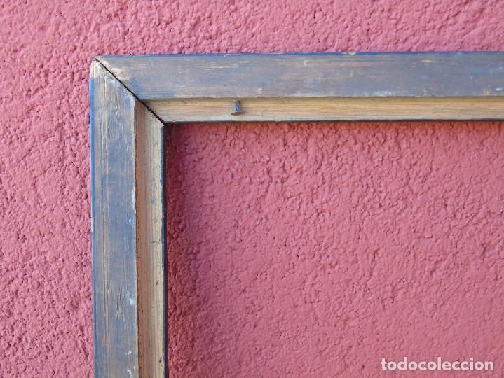 Antigüedades: ANTIGUO MARCO DE MADERA EBONIZADO, PARA RESTAURAR. - Foto 11 - 155361774