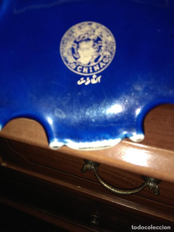 Antigüedades: jarron azul porcelana china - Foto 2 - 155368478