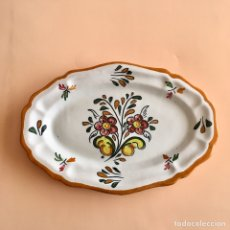Antigüedades: PLATO OVALADO TALAVERA DE LA REINA , PORCELANA. Lote 155370633