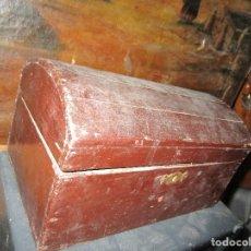 Antigüedades: ARCA MADERA MUY ANTIGUA PEQUEÑA IDEAL PARA GUARDAR ANTIGUEDADES ETC. Lote 155374938