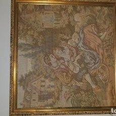 Antigüedades: CUADRO TAPIZ DE LOS AÑOS 60, MUY BUEN ESTADO, AUTOR DESCONOCIDO. Lote 155404374