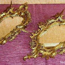 Antigüedades: PAREJA DE CORNUCOPIAS EN BRONCE.. Lote 155406850