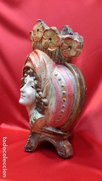 Antigüedades: JARRON. TERRACOTA POLICROMADA. FRMA Y AÑO - Foto 10 - 155416494