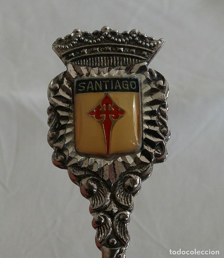 Antigüedades: Cucharilla de alpaca de Santiago - Foto 3 - 155421302