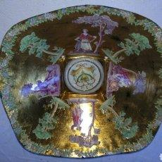 Antigüedades: PRECIOSO PLATO PINTADO A MANO.. Lote 155427781