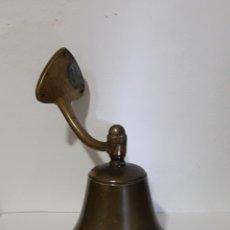 Antigüedades: ANTIGUA GRAN CAMPANA DE COLGAR EN BRONCE 20CM. Lote 155451072