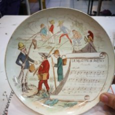 Antigüedades: PLATO TERRE DE FER SERIE MUSICAL LA MUETTE DE PORTICI.EN GENERAL BUENA CONDICION.RARO. Lote 155451946